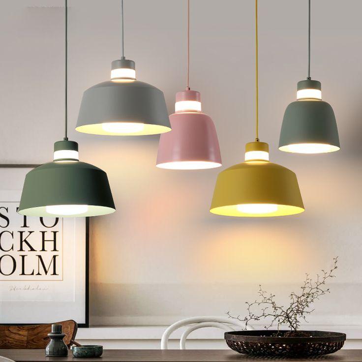 Us 125 0 Bunte Cafe Bar Metall Esszimmer Pendelleuchte Lampada Luminarias Dekoration Leuchte Mit L Kronleuchter Esszimmerlampe Lampe Kuche