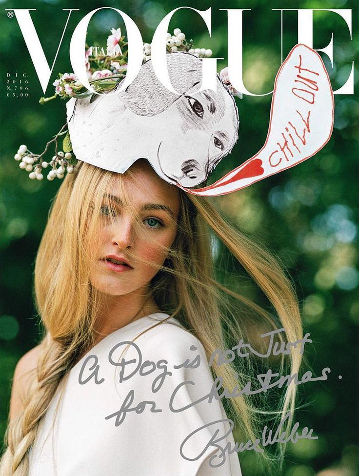 Jean Campbell by Bruce Weber for Vogue Italia December 2016 Cover