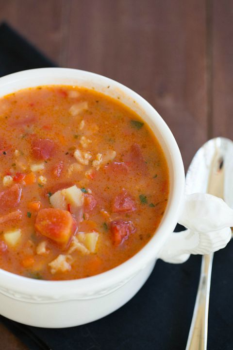 Manhattan Clam Chowder - hearty and full of flavor!
