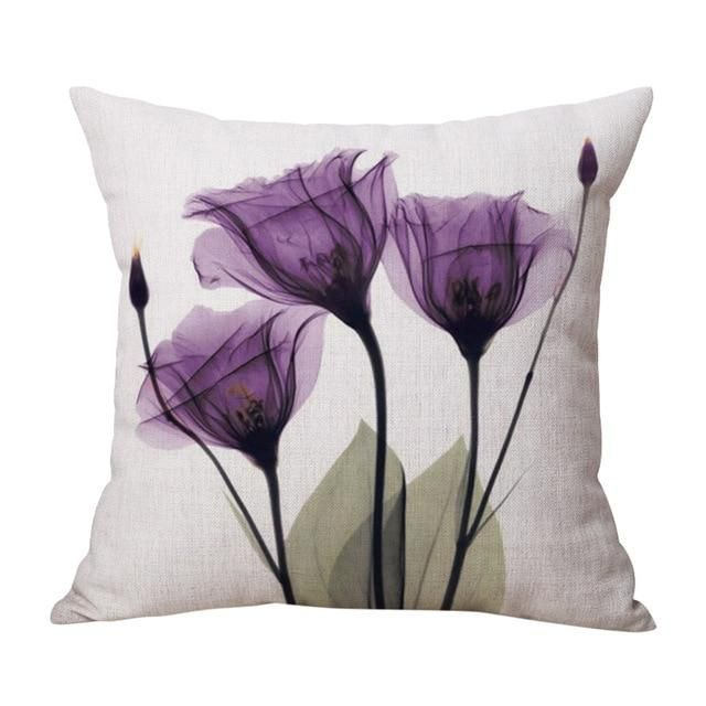 Spring Flower Throw Pillow Covers 7
