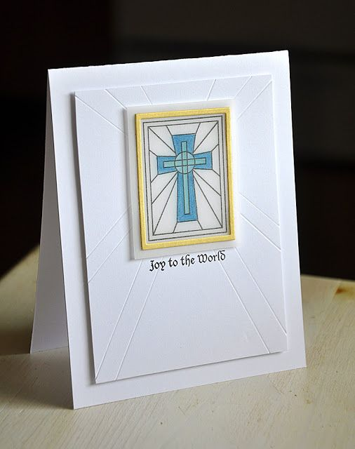 maile's clean & simple cross window - i love the extension of the lines to the card front!!