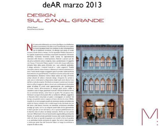 DeAr Magazine Hotel Centurion Palace - M: Comunicazione
