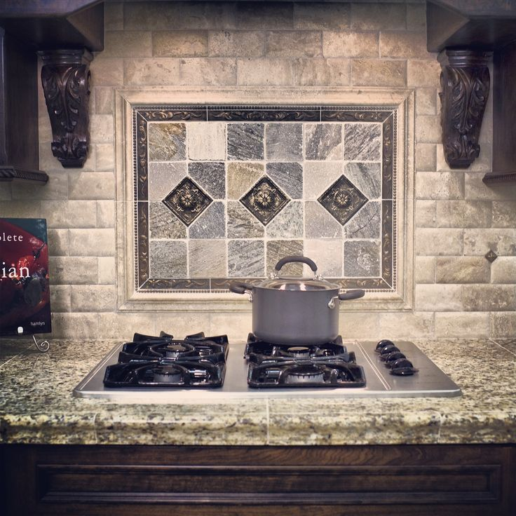 Kitchen Backsplash With Glass Tile Accents: A Metal Accent Can Bring A Great Sense Of Style And Detail