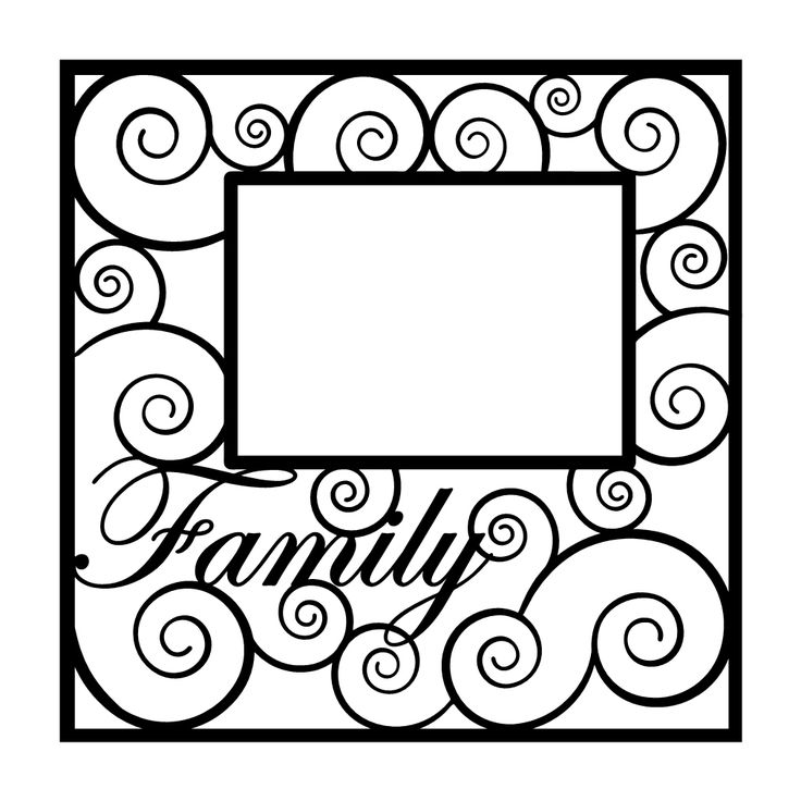 Family Scrapbooking Die Cut Overlay  I might use this on a layout of my family.