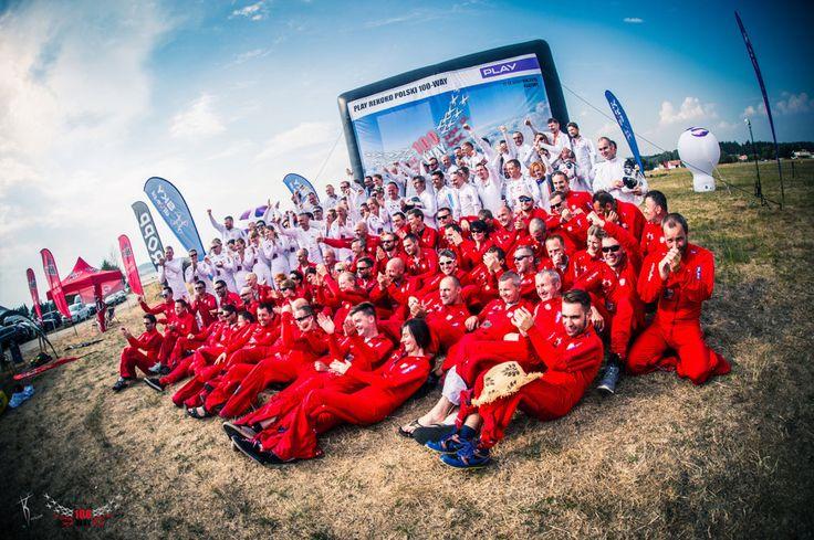 Polish 100-Way National Record Jump Team