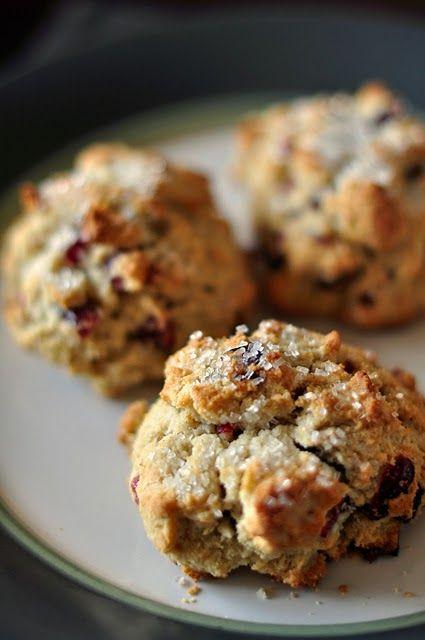 Everything Reconsidered.: orange + cranberry scones -- gluten free + dairy free