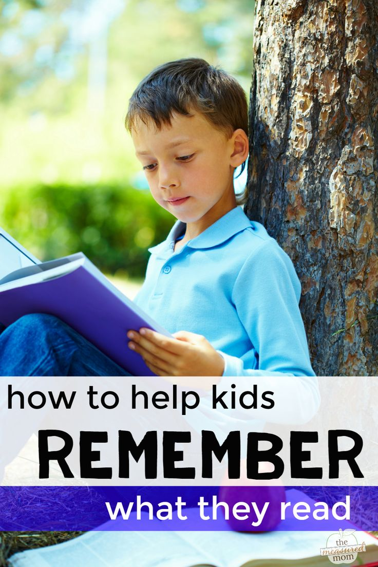 Ways to help kids remember what they have read | The Measured Mom