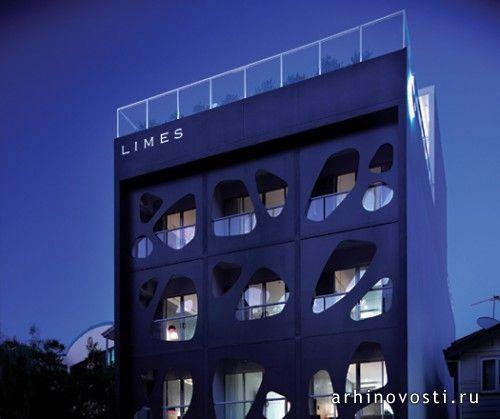 Дизайн отеля Лаймс (Limes Hotel) принес своему создателю награду. Брисбен, Австралия.