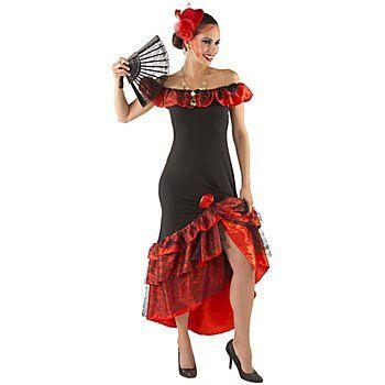 Karnevalskostüm Spanierin aus anschmiegsamen Elastik-Jersey mit Satin und schönem Spitzenstoff, mit angenähter Rose, Kleiderlänge: bei Gr. 36/38 ca. 120 cm. Material: 100 % Polyester.Lieferung ohne Kopfbedeckung und Fächer.Olé! Verzaubern Sie diesen Karneval mit dem heissblütigen Spanierin Kostüm als feurige Flamenco Tänzerin den Matador Ihrer Träume und hinterlassen Sie auch auf der Karnevalsparty einen bleibenden Eindruck. Jetzt sind Sie a...