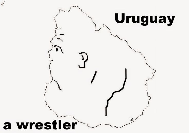 A funny map of Uruguay