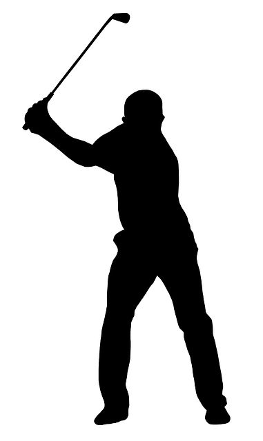 Golf, Golf Swing, Golfer, Silhouette, Black, White