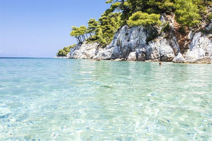Skopelos, de prachtige heldere zee