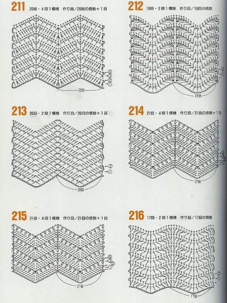 428 best manta ganch. zigzag images on Pinterest | Crochet afghans ...