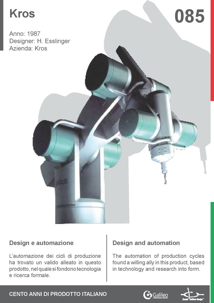 Kros by Hartmut Esslinger for Kros (1987) #automation #industry