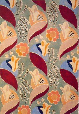 Duncan Grant - Bloomsbury Group | Textile Design - delightful. @Nicholas Seymore Engert