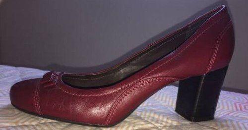 Sapato De Salto Shoestock Vinho  - R$ 50,00 em Mercado Livre