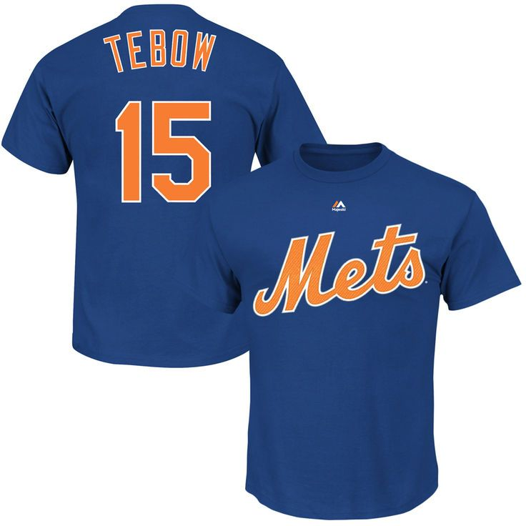 Tim Tebow New York Mets Majestic Official Name & Number T-Shirt - Royal - $29.99