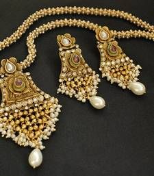 Exclusive Designer Ruby & Pearl Master Piece shop online.