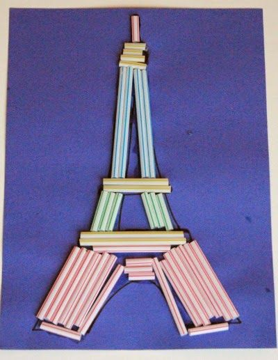 Cutting Tiny Bites: Eiffel Tower Craft