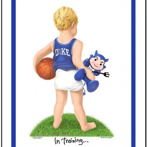 Duke Blue Devils art print basketball In Training matted | kidsntraining - Earth Friendly on ArtFire