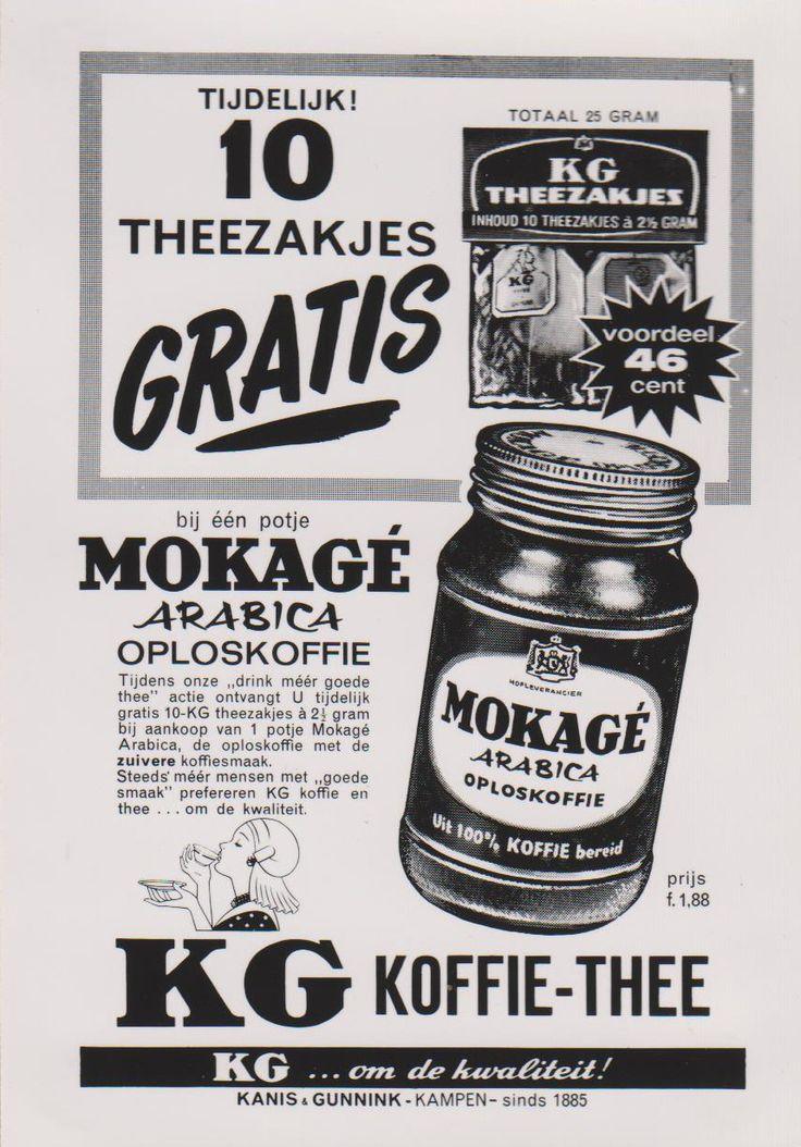 Kanis en Gunnink Mokage. Advertentie. Ontwerp Ger Dorant, Patz reclamestudio Amsterdam 1962