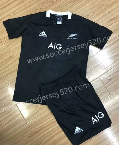 9ff319d4f10 2018-19 All Blacks Black Rugby Kids/Youth Soccer Uniform | Rugby ...