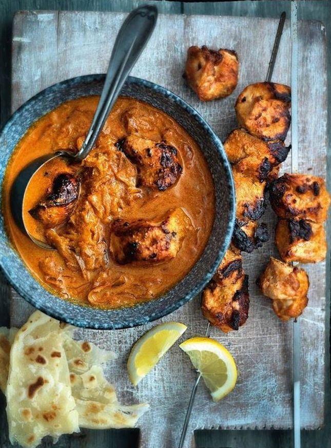 Bookmark this yogurt curry dinner recipe to make Chicken Tikka Masala.