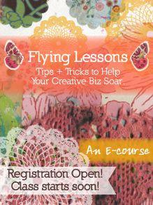 ❥ Kelly Rae Roberts : flying lessons the whole shebang {eBooks}