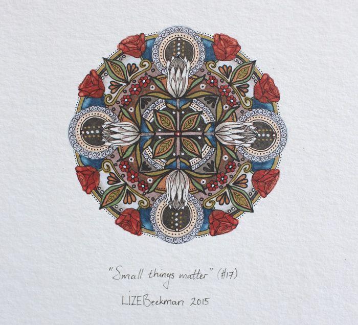 'Small things matter' Mandala art Lize Beekman South Africa