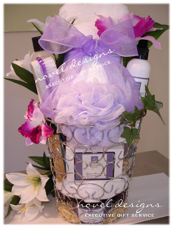 Lavender Spa Gift Basket Mothers Day Birthday Easter