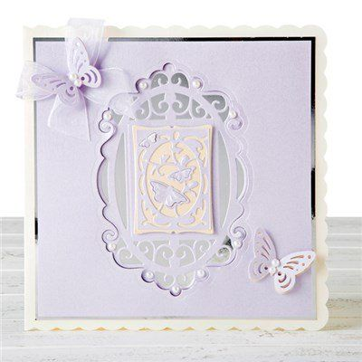 Buy Tonic Set of 2 Indulgence Keepsakes Frame and Insert Dies - Royal, Butterfly and Floral, Spring from CreateAndCraft.tv
