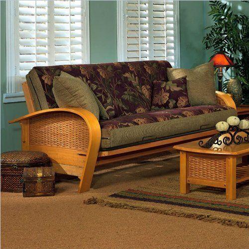 American Furniture Alliance Bentley Metal/Wood Frame Full, Golden Oak By American  Furniture Alliance