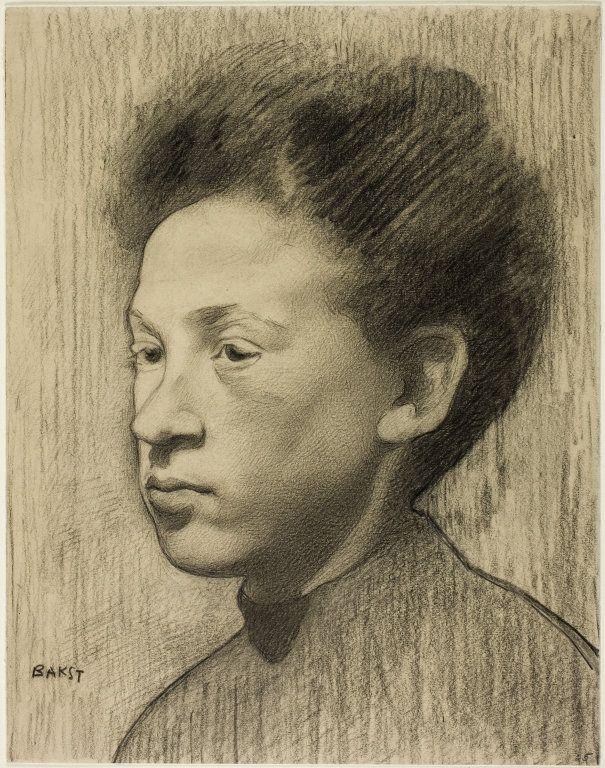 Léon Bakst (Russian, 1868-1924) - Head of a Woman