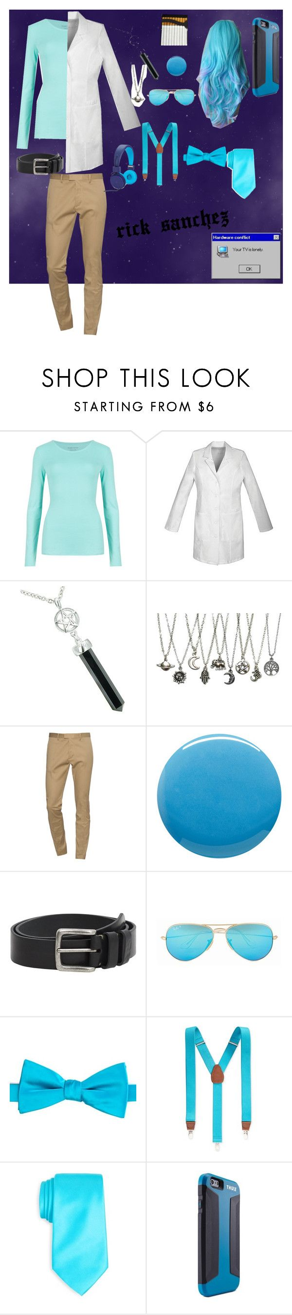 """rick sanchez"" by stanchez ❤ liked on Polyvore featuring M&S Collection, Cherokee, Dsquared2, Lauren B. Beauty, MANGO MAN, Ray-Ban, Saddlebred, Club Room, Thule and Polaroid"