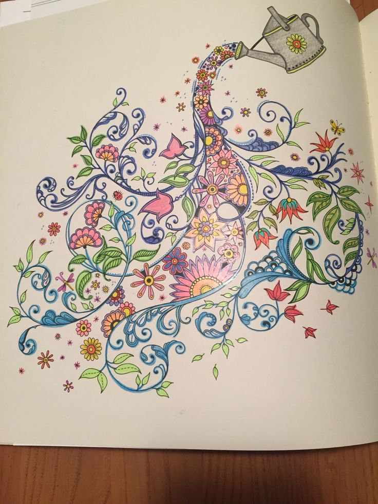 One Of My First From Secret Garden By Johanna Basford BasfordAdult ColoringColoring BooksSecret GardensVintage Coloring BooksColoring Pages