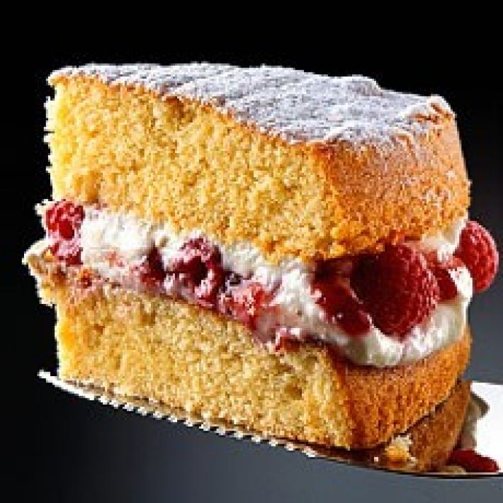 A picture of Delia's All-in-one Sponge Cake with Raspberry and Mascarpone Cream…