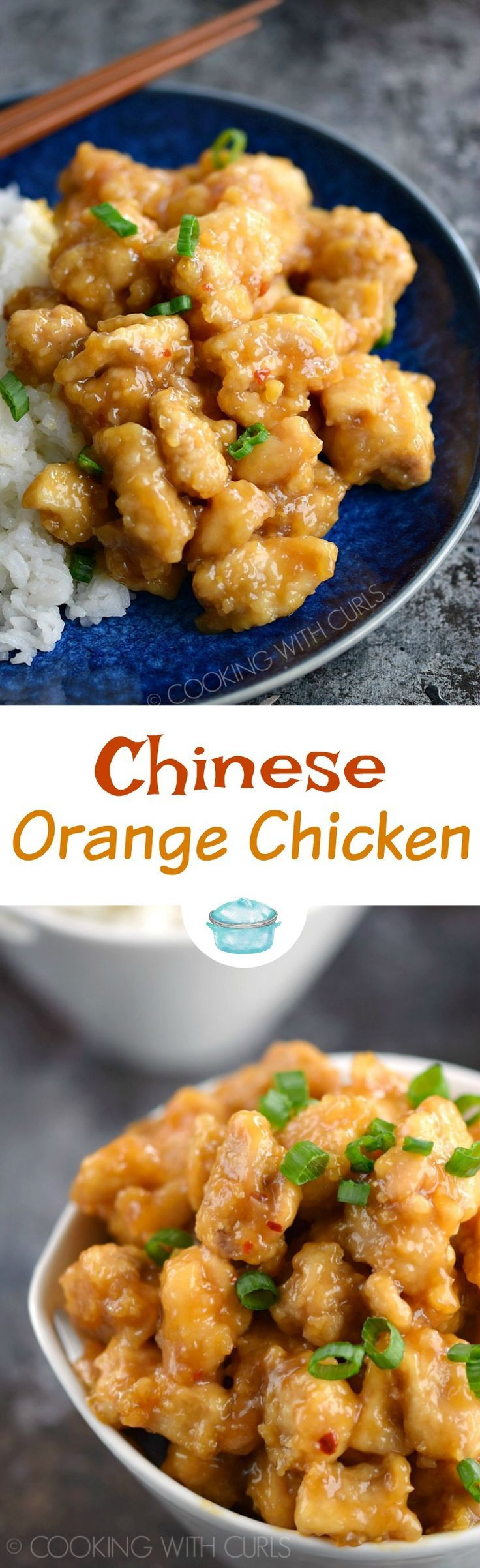 Impress your family with your mad skills and serve them Chinese Orange Chicken for dinner tonight! It's tastes better than take-out and it's healthier too!! #chinese #takeoutfakeout #orange #skipthetakeout #glutenfree via @cookwithcurls