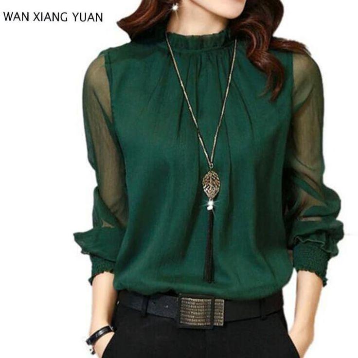 Autumn Long Sleeve Chiffon Blouse //Price: $17.95 & FREE Shipping //     #fashion