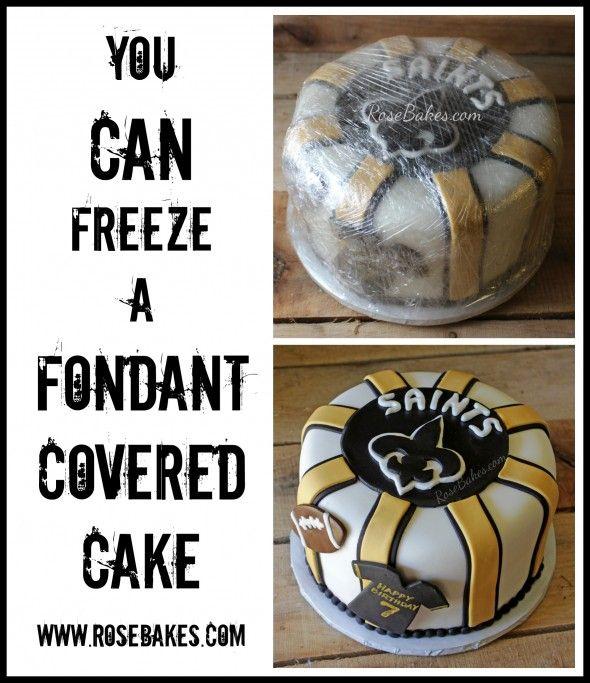 You Can Freeze a Fondant Covered Cake #cake #cakedecorating #fondant