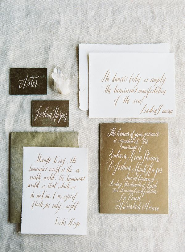 The Art of Freehand Wedding Invitations