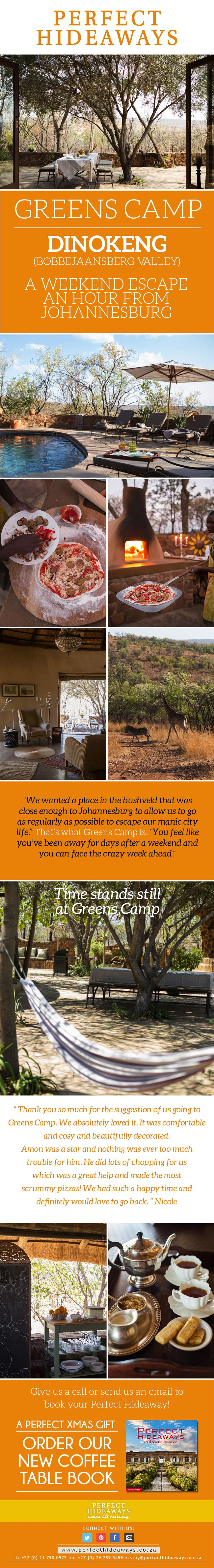 http://www.perfecthideaways.co.za/Details/Greens-Camp
