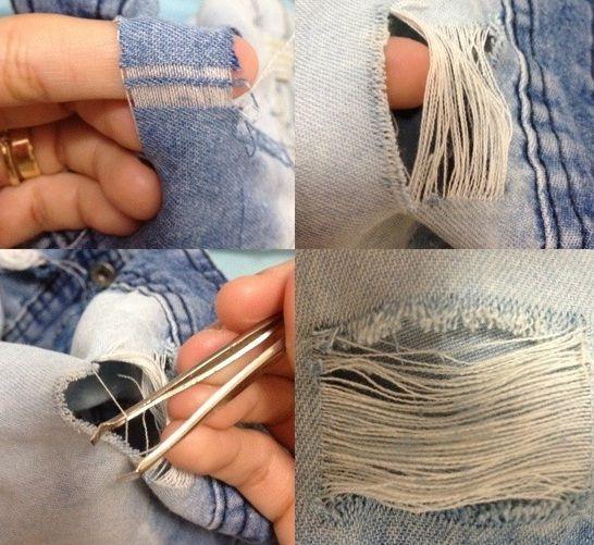 Ripped Jeans: Como fazer uma calça ou shorts rasgado... (ou Detroyed Denim)...DIY