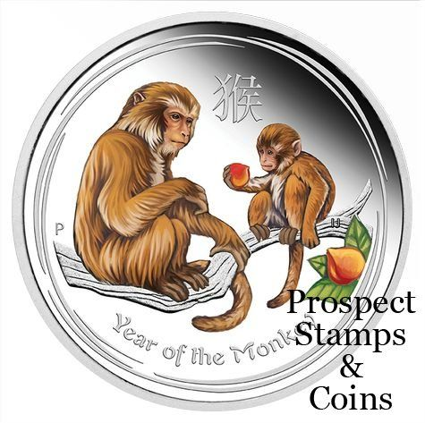 New Releases :: 2016 Year of the Monkey 2oz Silver Coloured Coin Perth ANDA Coin Show Issue