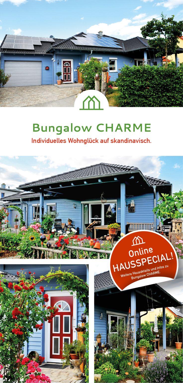 Romantischer Holzhaus Bungalow Mit Skandinavischen Einflüssen. #Holzhaus # Bungalow #holzbau #holzrahmenbauweise