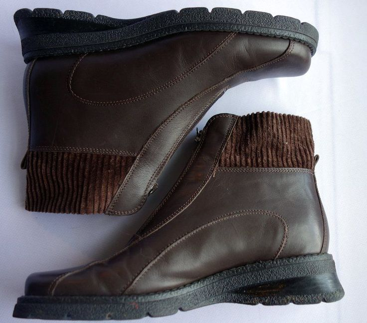 Aquatalia Ankle Boots Women's Brown Weatherproof Size 7 Zip-Up #Aquatalia #AnkleBoots #Casual