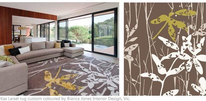 Custom coloured KAS Leisel rug by the amazing Bianca Jones Interior Design