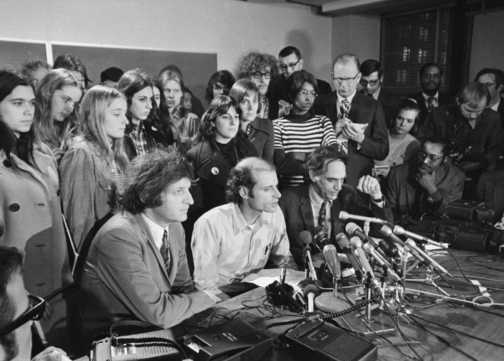 """February 18,   1970: Chicago 7 defendants found innocent of inciting to riot  -    The """"Chicago Seven"""" defendants are found not guilty of conspiring to incite riots at the 1968 Democratic national convention; five were  convicted of violating the Anti‐Riot Act of 1968 ﴾those convictions were later reversed﴿."""