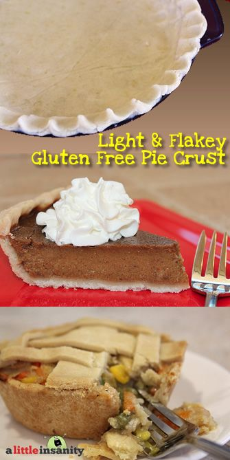 Light & Flakey Gluten Free Pie Crust Recipe
