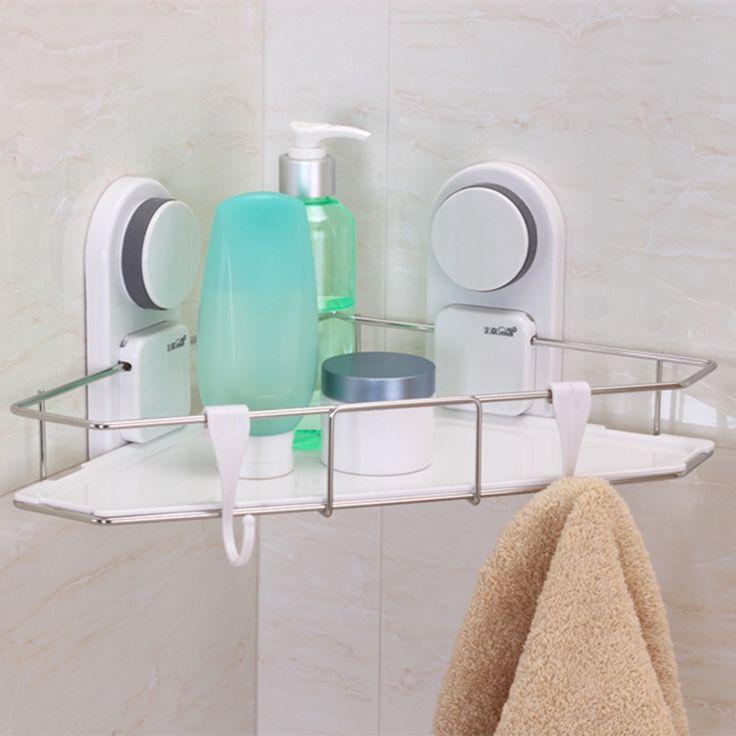 29.90$  Buy here - https://alitems.com/g/1e8d114494b01f4c715516525dc3e8/?i=5&ulp=https%3A%2F%2Fwww.aliexpress.com%2Fitem%2FNew-Sucker-White-Corner-Shelf-Bathroom-Kitchen-Storage-Rack-Hanging-Holder-Sucker-Single-Shelves-For-Bathroom%2F32698664914.html - New Sucker White Corner  Shelf Bathroom Kitchen Storage Rack Hanging Holder Sucker Single Shelves For Bathroom Kitchen