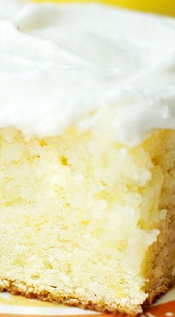 Lemon Cake with Sour Cream Lemon Icing (from scratch)